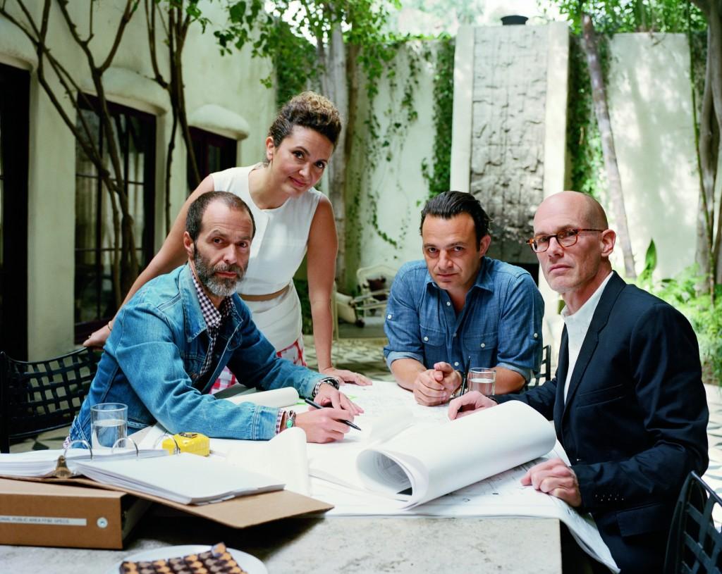Roman Alonso, Pamela Shamshiri, Ramin Shamshiri, Steven Johanknecht. Photo: François Halard
