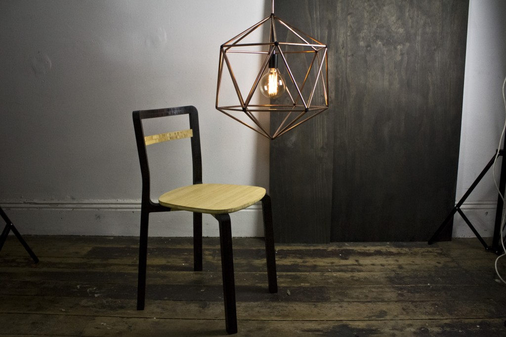 Rough Diamond lamp and Boo Chair by Ben Tovim, Melbourne Design Week