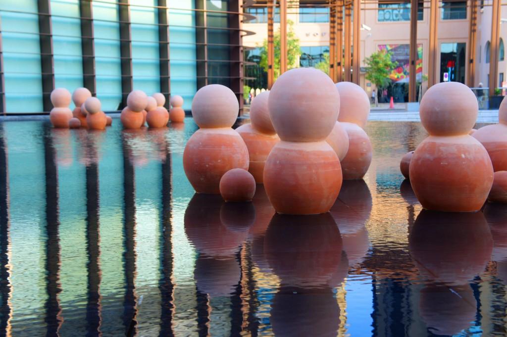 Earth Hives by Latifa Saeed & Talin Hazbar, installed at Dubai Marina