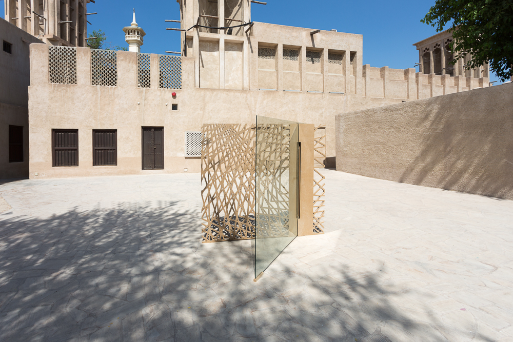 A Place to Departure by D3, installed in installed in the historic Al Fahidi district