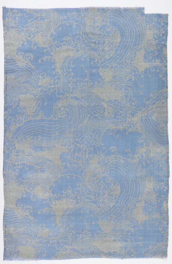 South China Sea, 1972, discharge-printed silk. Gift of Jack Lenor Larsen, 1973-54-1-a. Photo: Matt Flynn, courtesy of Cooper Hewitt, Smithsonian Design Museum