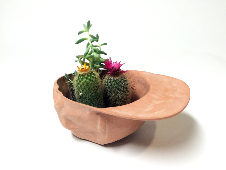 Hat Bowl Terra Cotta by Wyatt Little