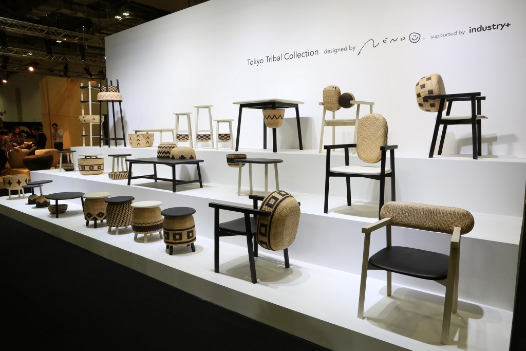 Maison & Objet Asia 2015. Tokyo Tribal Collection by Nendo for Industry+. Designer Oki Sato of Nendo was awarded with a Designer of the Year accolade at Maison & Objet Paris in 2015.