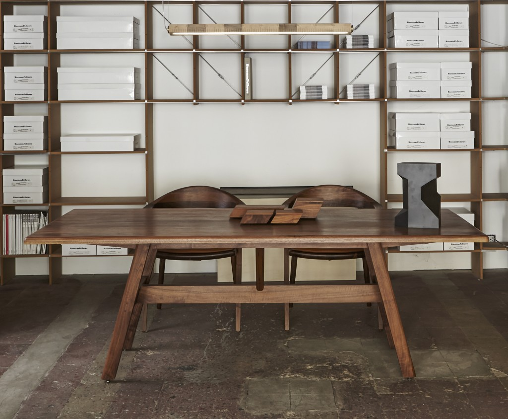 BassamFellows CB-393 Kant Table in solid Walnut, credit MAX ROMMEL