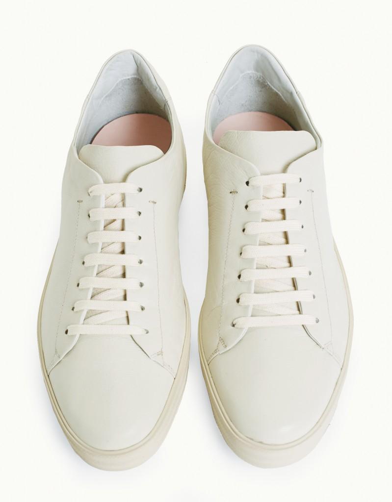 BassamFellows Crombie Sneaker Ivory, credit JOSHUA JJORDAN