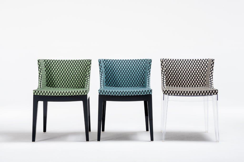 Mademoiselle Memphis by Philippe Starck, Rete fabric row