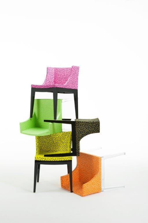 Mademoiselle Memphis by Philippe Starck, Letraset fabric group