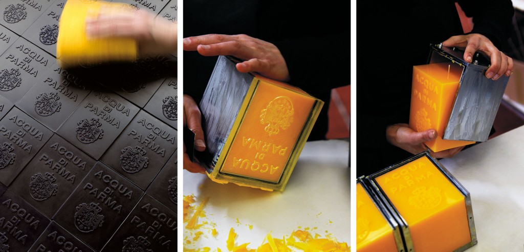 Making of Acqua di Parma handmade candles.