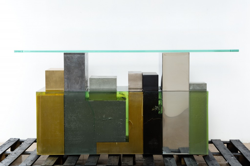 Green Pompei or Nature's Revenge on Urban Sprawl Console Table by Georges Amatoury