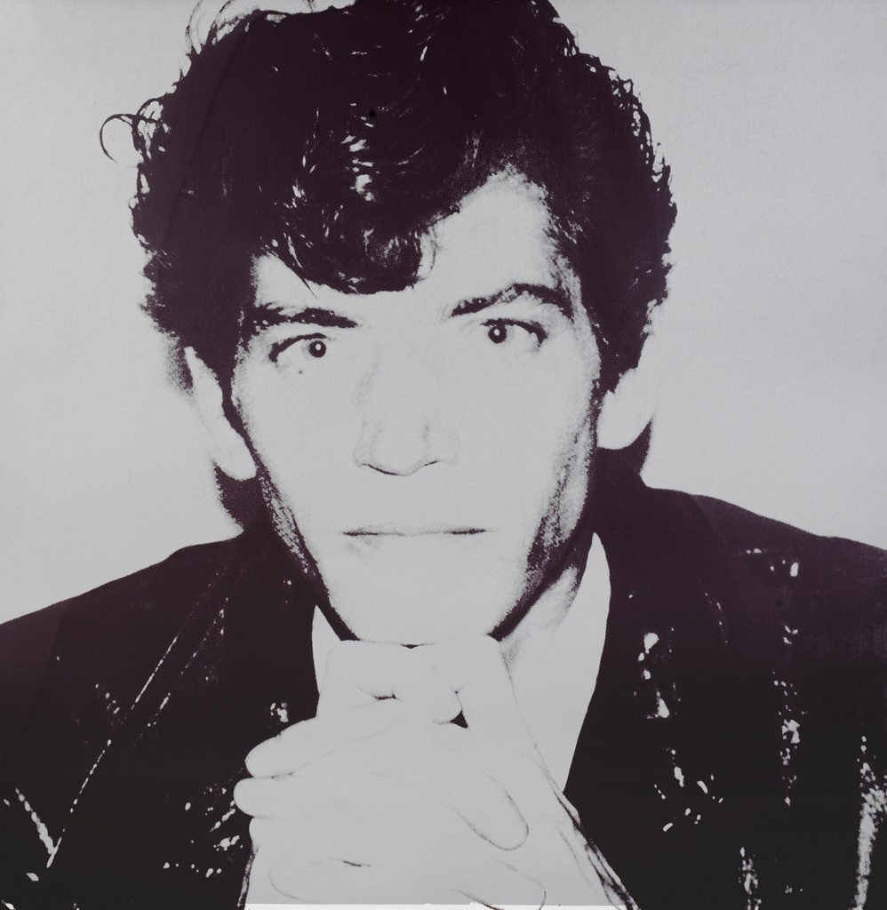 Jablonka Maruani Mercier Gallery. Andy Warhol: Robert Mapplethorpe (1983). Screenprint on lenox museum board. Size 102 x 102 cm.