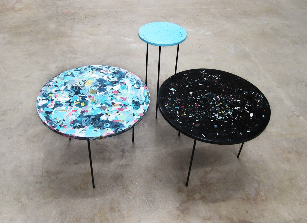 Troels Flensted: Poured tables (2014). Copyright Troels Flensted.