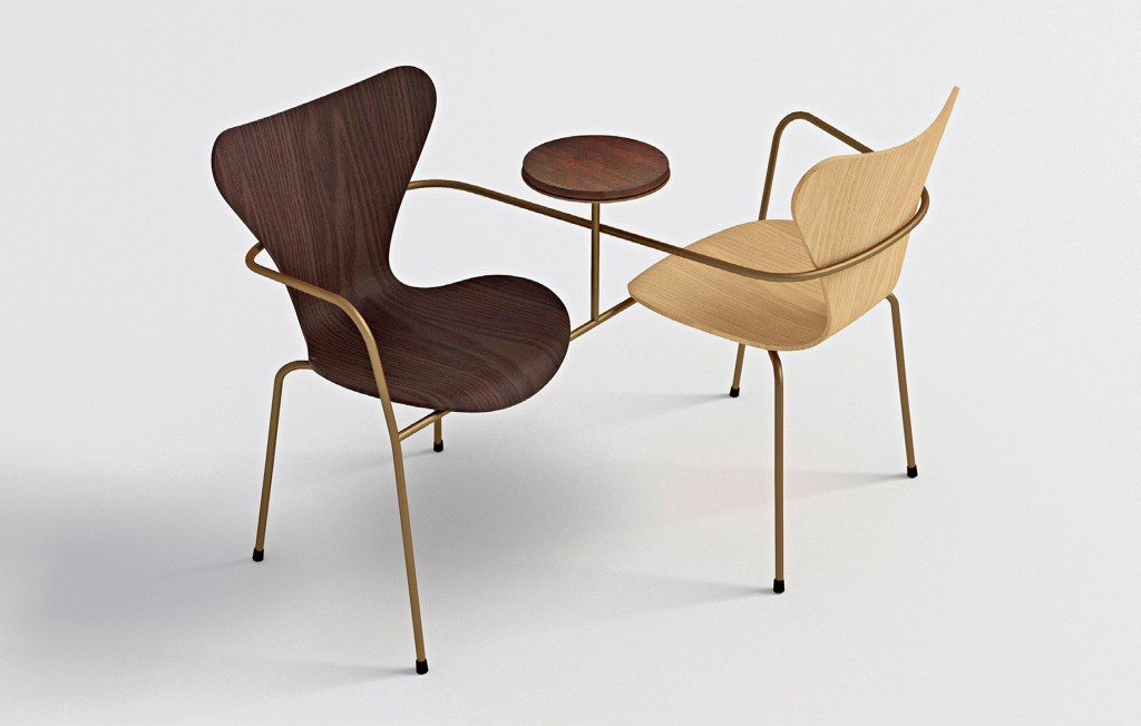 'Together' chairs for Fritz Hansen.