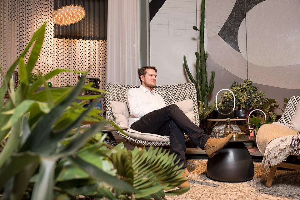 Nya Nordiska's textile in Das Haus with Sebastian Herkner © Constantin Meyer