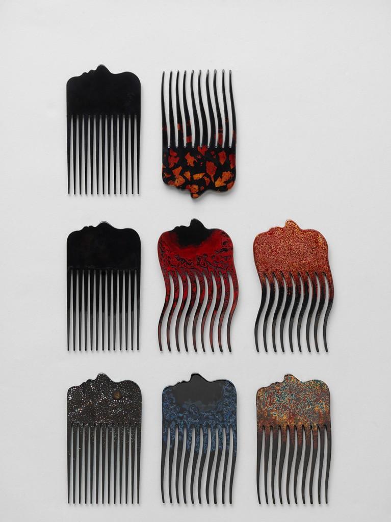 Stina Löfgren: Combs for A New Layer. Photo Joakim Bergström.