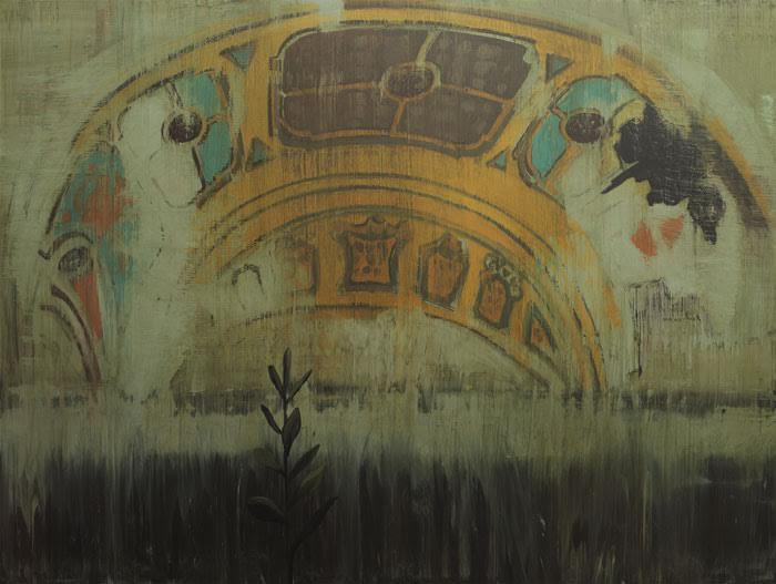 "Alejandro Campinas' Eastown Theater (2015), Oil on canvas, 60"" x 78"""