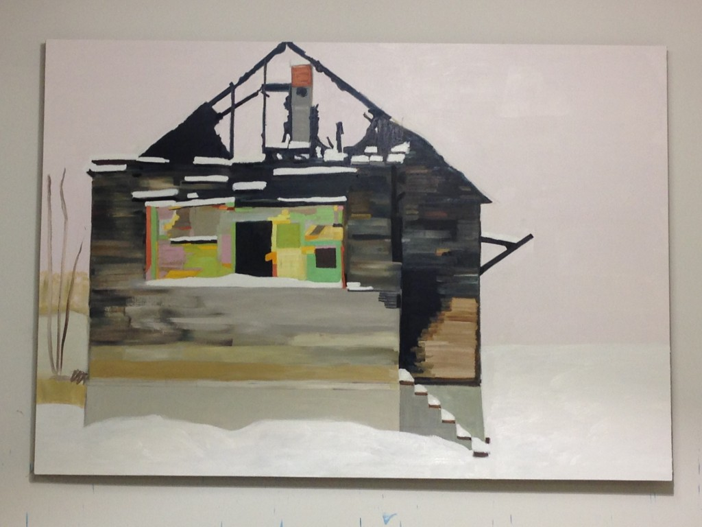 """Nancy Mitchnick's Framed (2016), Oil on canvas, 77"""" x 111"""""""
