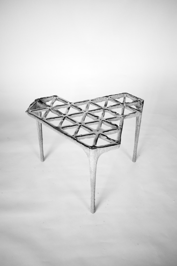 Max Lamb (British, b. 1980); 30 Triangles stool, from Pewter series, 2014; Pewter poured into molded sand; 40 × 55 × 50 cm (15 3/4 × 21 5/8 × 19 11/16 in.)