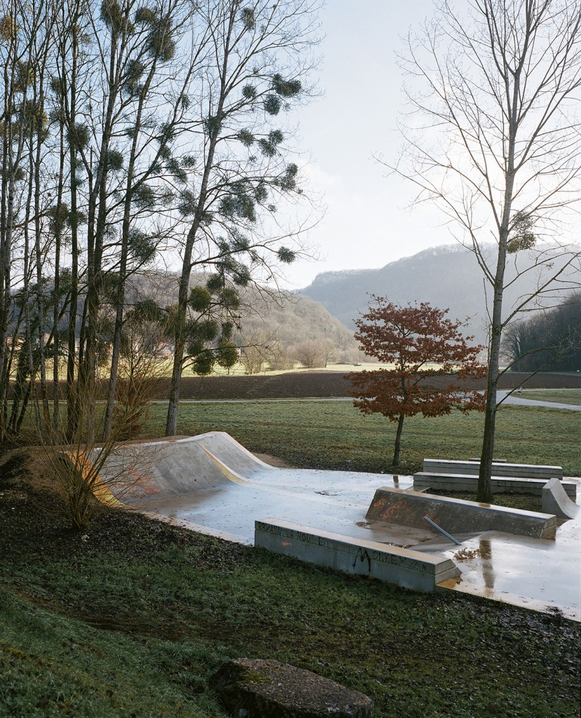 Skatepark, Baumes-les-Dames. Photography commissioned by Villa Noailles. Photo Cyrilles Weiner, 2016-01-10.