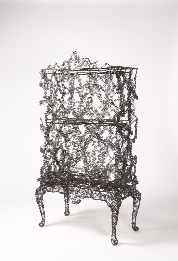 Tuomas Markunpoika (Finnish, active Netherlands, b. 1982); Cabinet, from Engineering Temporality series, 2012; Welded and burned steel rings; 175 × 95 × 50 cm (5 ft. 8 7/8 in. × 37 3/8 in. × 19 11/16 in.)