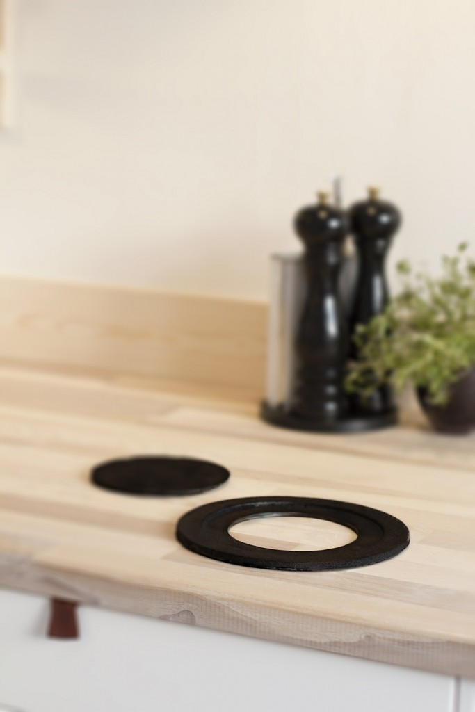 Claesson Koivisto Rune: Flat Iron trivet (2016) for Smaller Objects. Produced in Czech Republic.