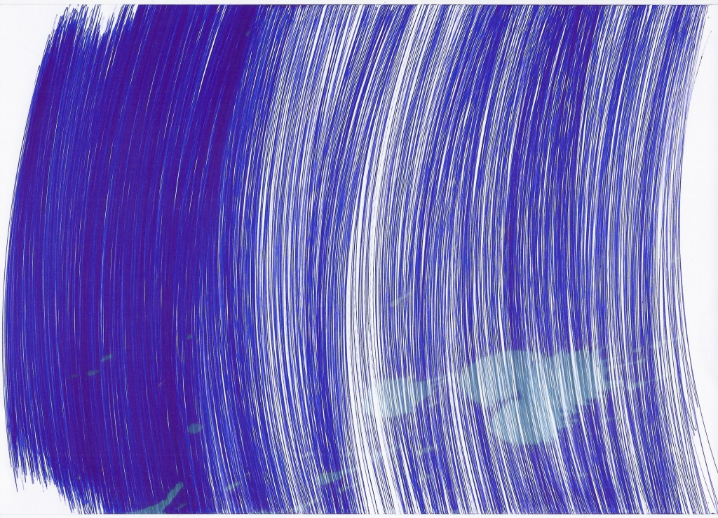 Untilted by Tatiana Wolska, 2015 Acrylic on paper, 29 x 21 cm