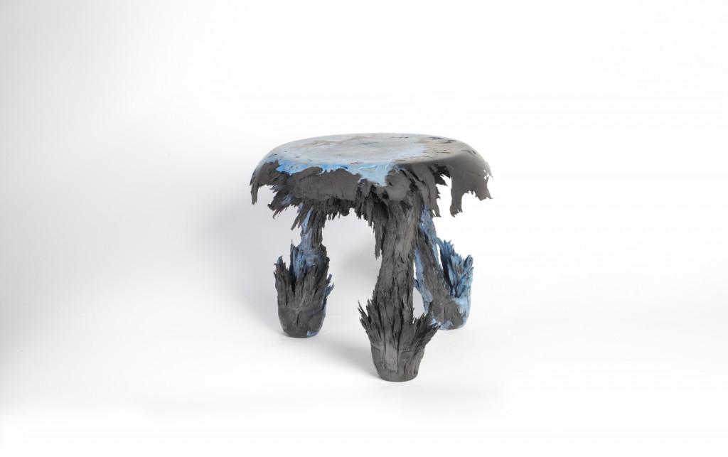 Jólan van der Wiel (Dutch, b. 1984); Gravity stool, from Gravity series, 2014; Resin, iron filings; 46 × 34 × 38 cm (18 1/8 × 13 3/8 × 14 15/16 in.)