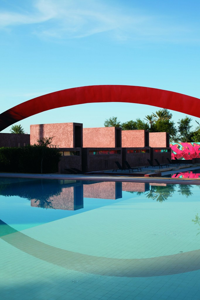 The suites perfectly integrate with the open-air art gallery in Dar Sabra