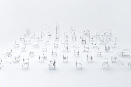 """50 Manga Chairs"" by Nendo for Friedman Benda,  Photo by Kenichi Sonehara"