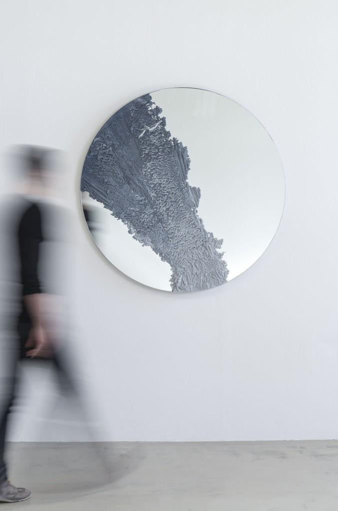 DRIFT Mirror (Untitled 1) by FM/s, sand & mirror