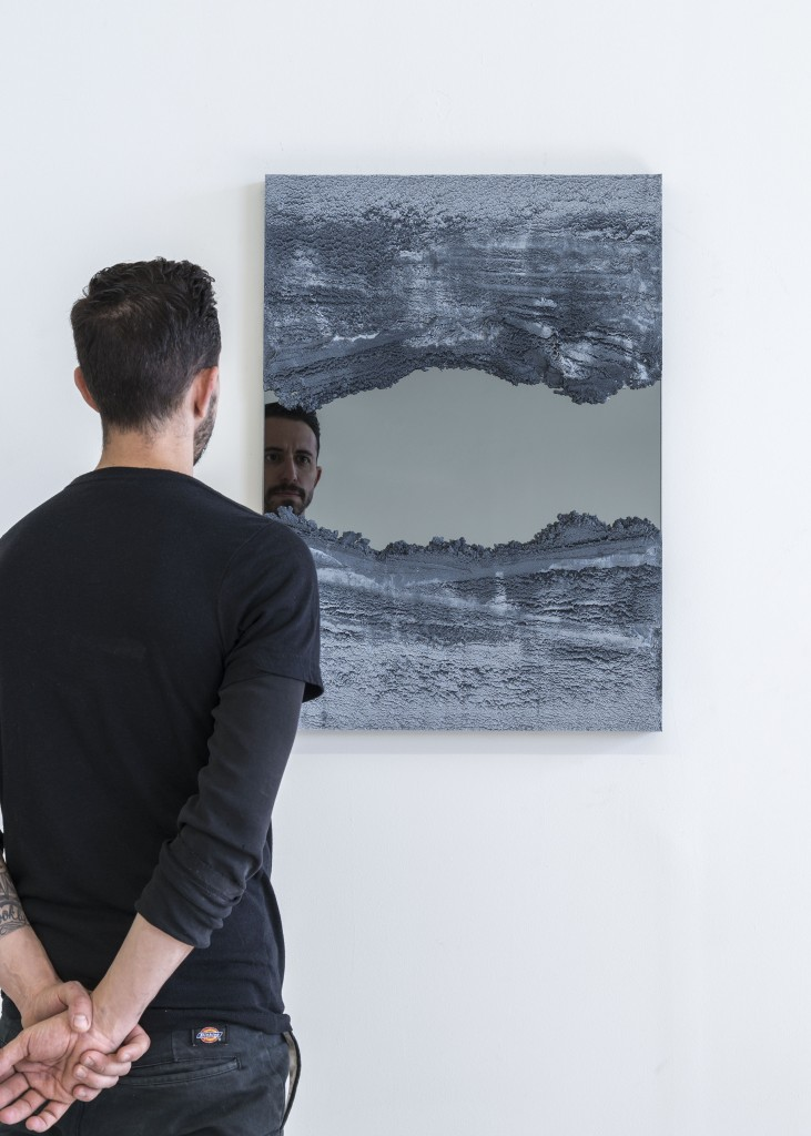 DRIFT Mirror (Untitled 3) by FM/s, sand & smoked mirror