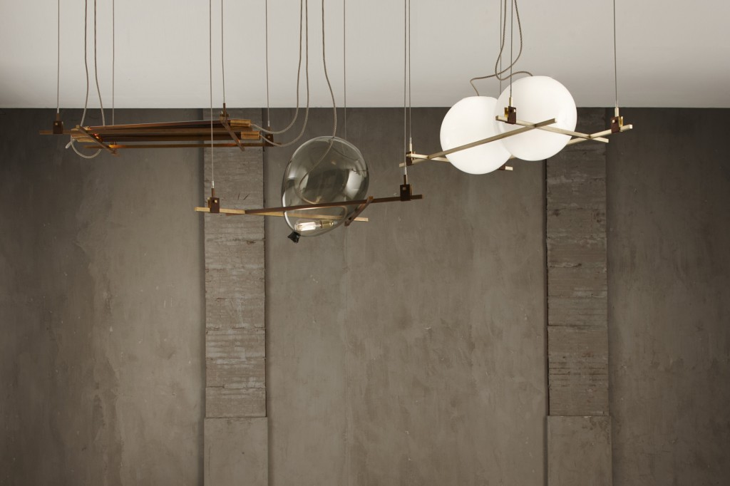 """Shapes"" ceiling lamps by Federico Peri for Galleria Nilufar"