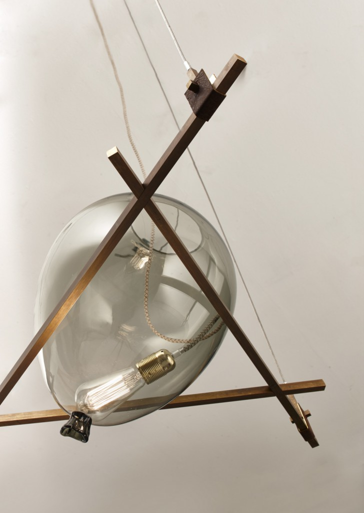 "Detail of ""Shapes"" ceiling lamp by Federico Peri for Galleria Nilufar"