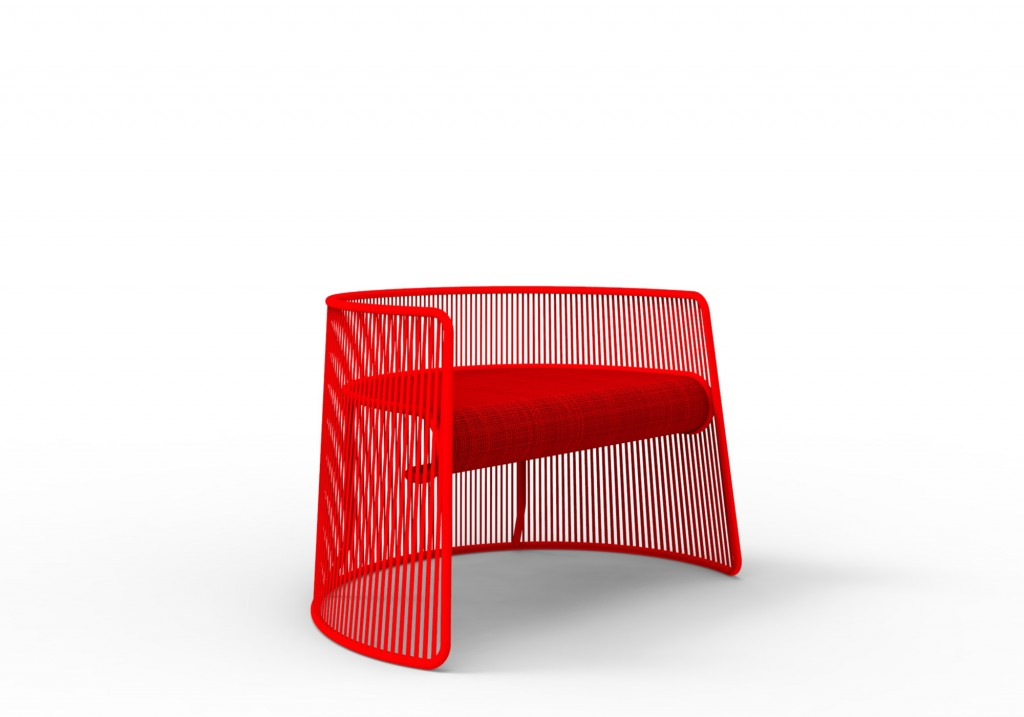 """Husk"" low chair by Marc Thorpe for Moroso"