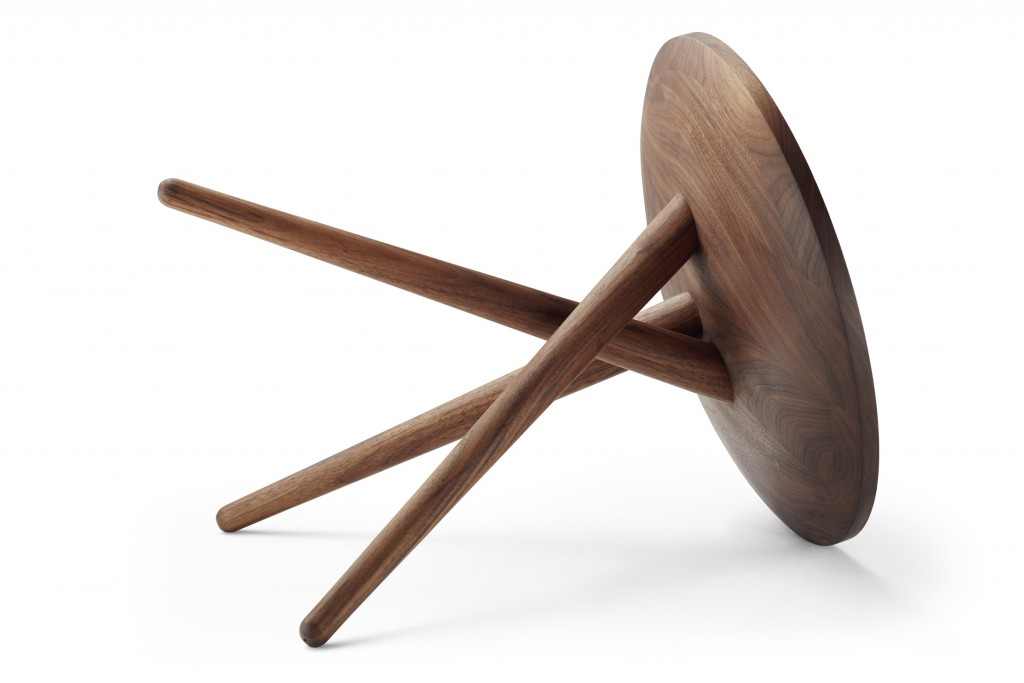 Side Table 1025 By James Van Vossel (right) For Thonet (photo Courtesy  Thonet