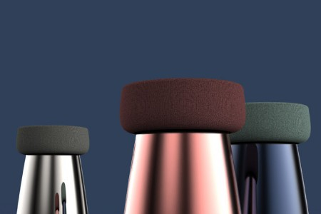 Chubby glass stool for Verreum