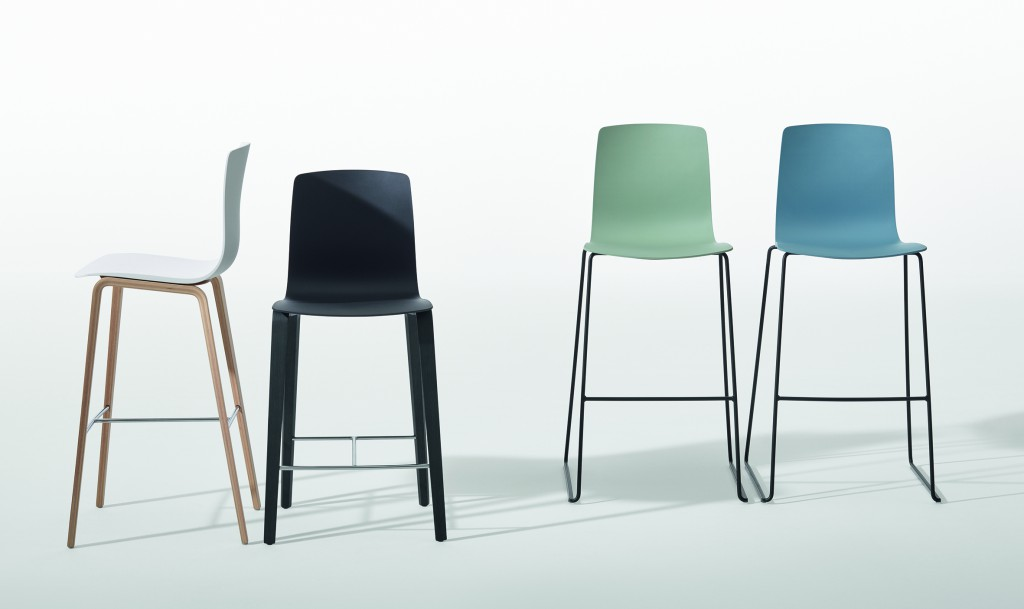 """Aava"" stools by Antti Kotilainen for Arper (photo by Marco Covi, courtesy Arper)"