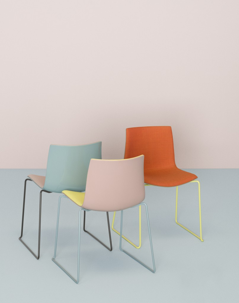 """Catifa 46"" chairs by Lievore Altherr Molina for Arper (photo by Dominik Tarabanski, courtesy Arper)"