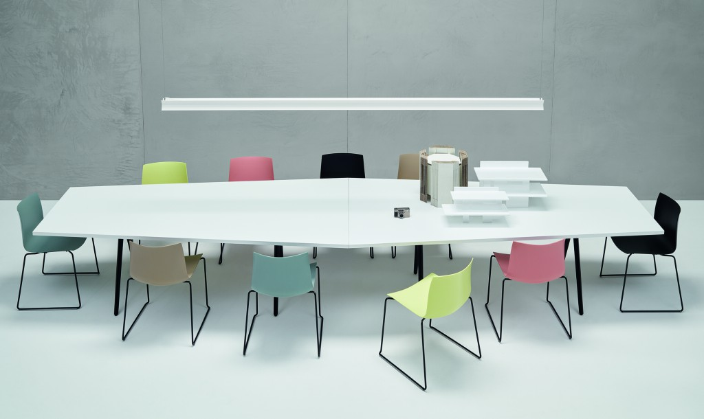 """Catifa 46"" chairs & ""Meety"" Table by Lievore Altherr Molina for Arper (photo by Marco Covi, courtesy Arper)"