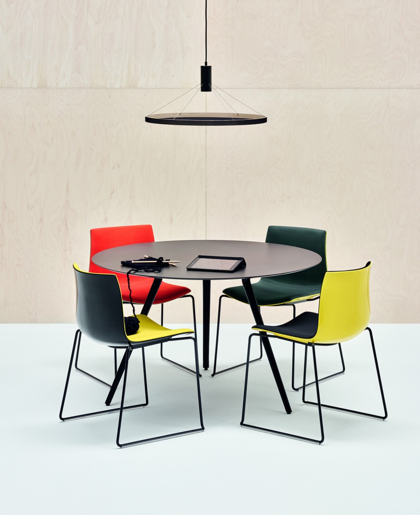 """Catifa 53"" chairs & ""Meety"" Table by Lievore Altherr Molina for Arper (photo by Marco Covi, courtesy Arper)"