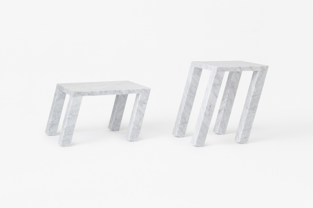 """Nod"" tables by Nendo for Marsotto (Photo by Akihiro Yoshida)"