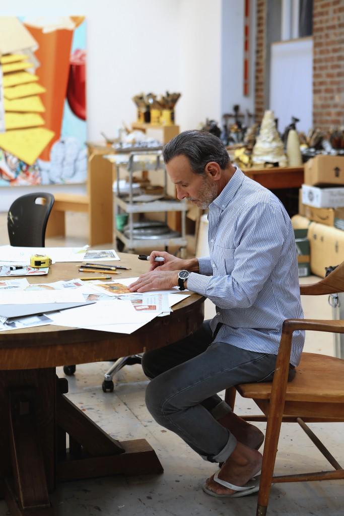 American painter, printmaker, and stage designer, David Salle, Photo: Costas Picadas