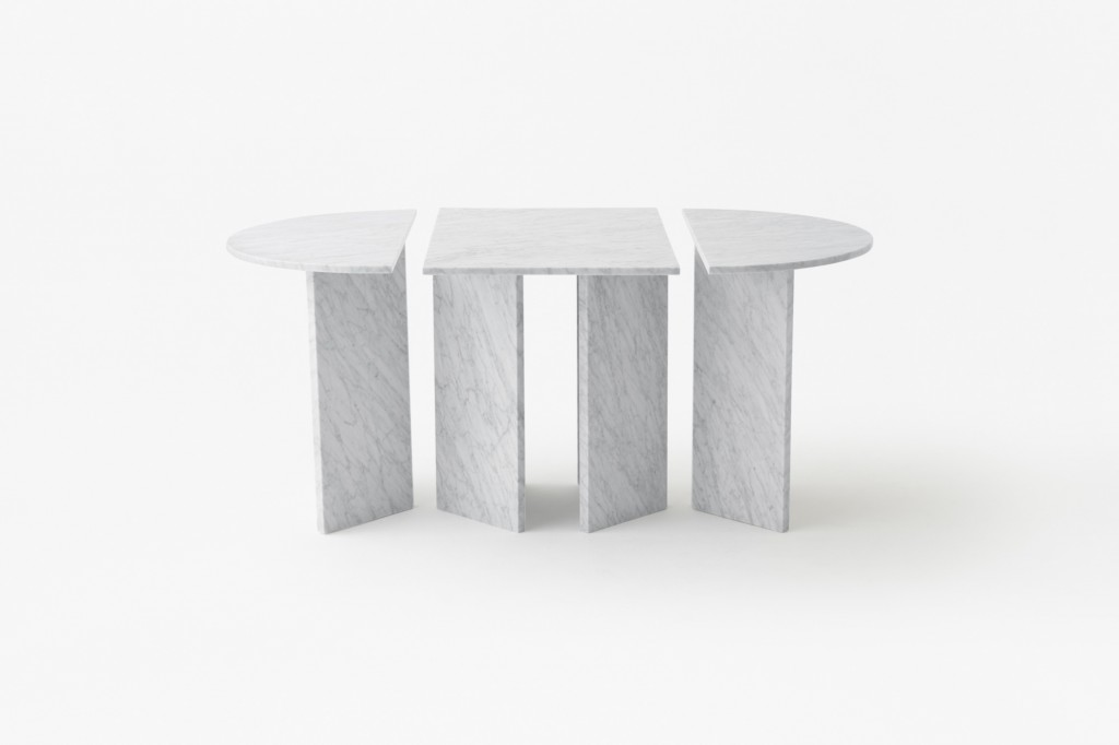"""Split"" tables by Nendo for Marsotto (Photo by Akihiro Yoshida)"
