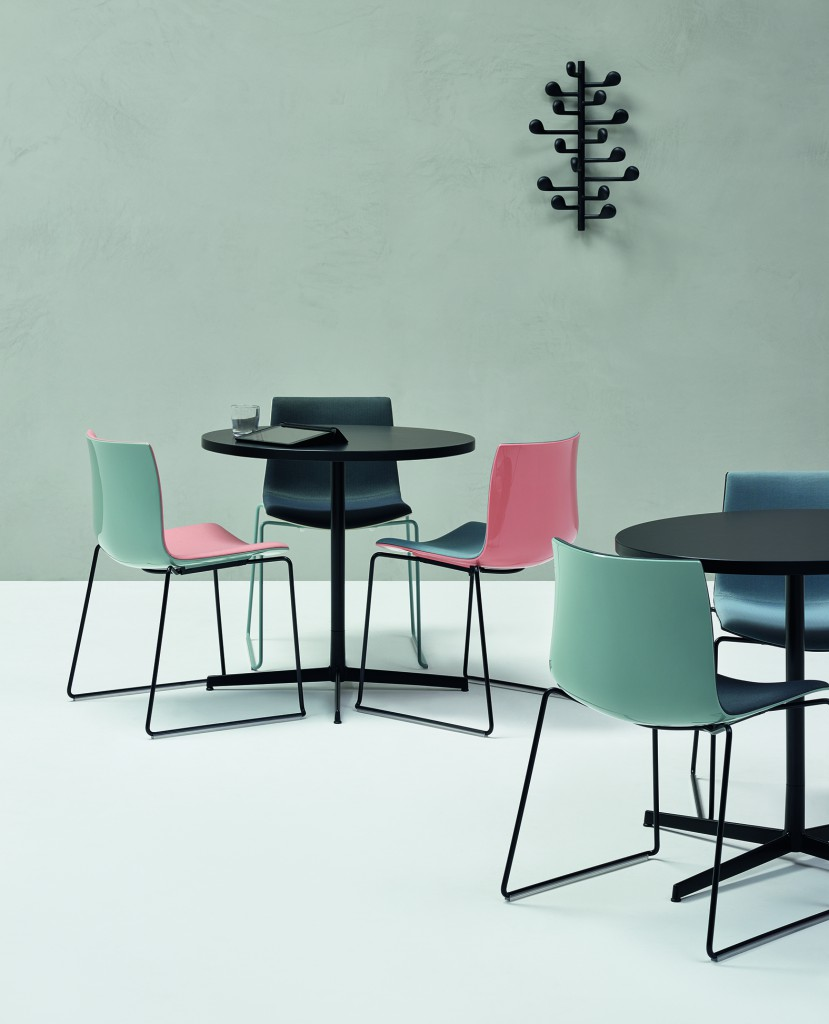 """Catifa 53"" chairs & ""Wit"" Tables by Lievore Altherr Molina for Arper (photo by Marco Covi, courtesy Arper)"
