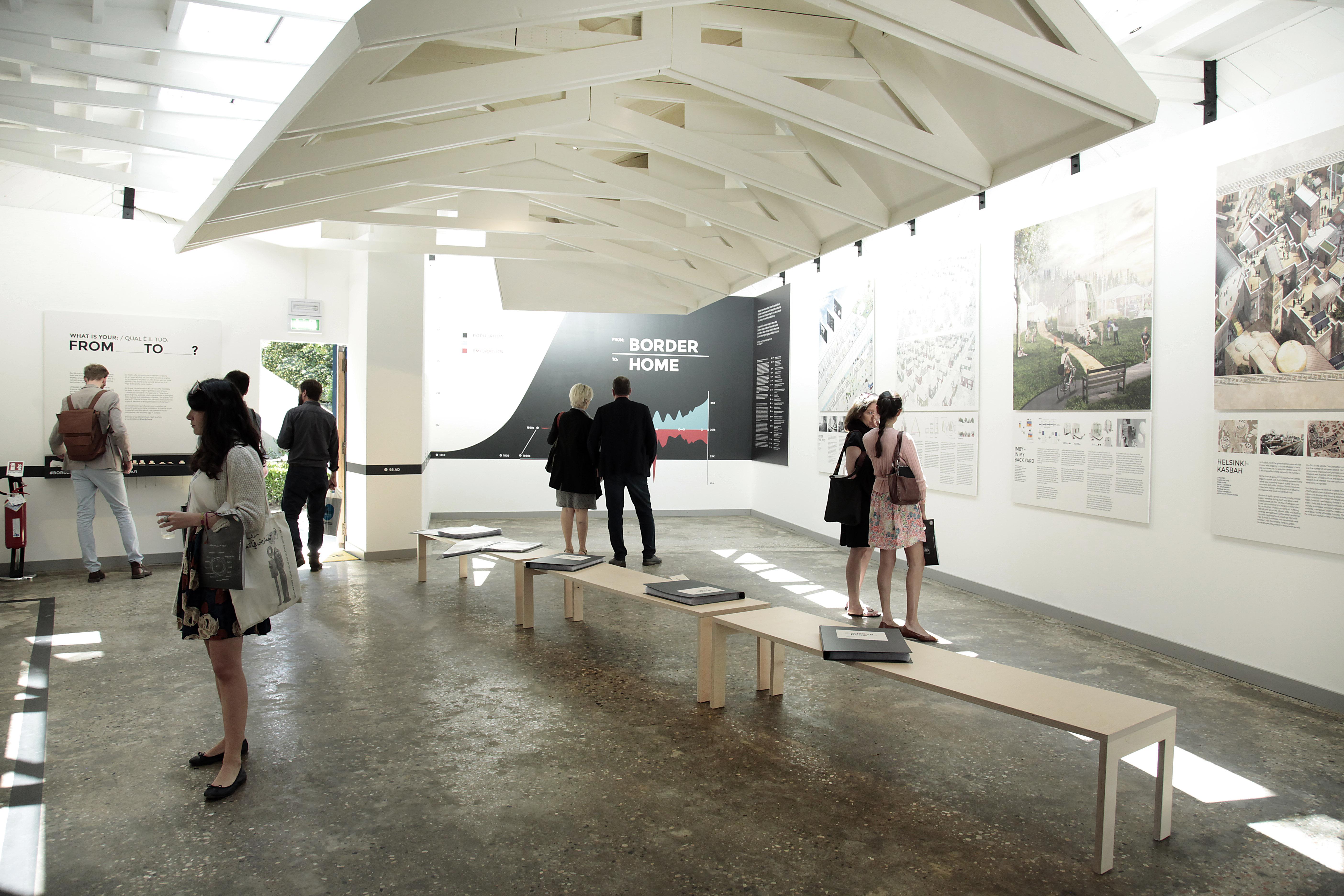 Exhibition images Finnish Pavilion 2016. From Border to Home. 15th International Architecture Exhibition – La Biennale di Venezia. ©Tuomo Tammenpää & Museum of Finnish Architecture MFA.