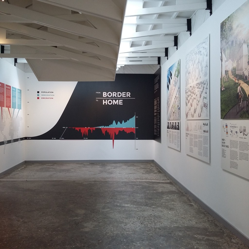 Exhibition images Finnish Pavilion 2016. From Border to Home. 15th International Architecture Exhibition – La Biennale di Venezia. ©Tuomo Tammenpää & Museum of Finnish Architecture MFA.