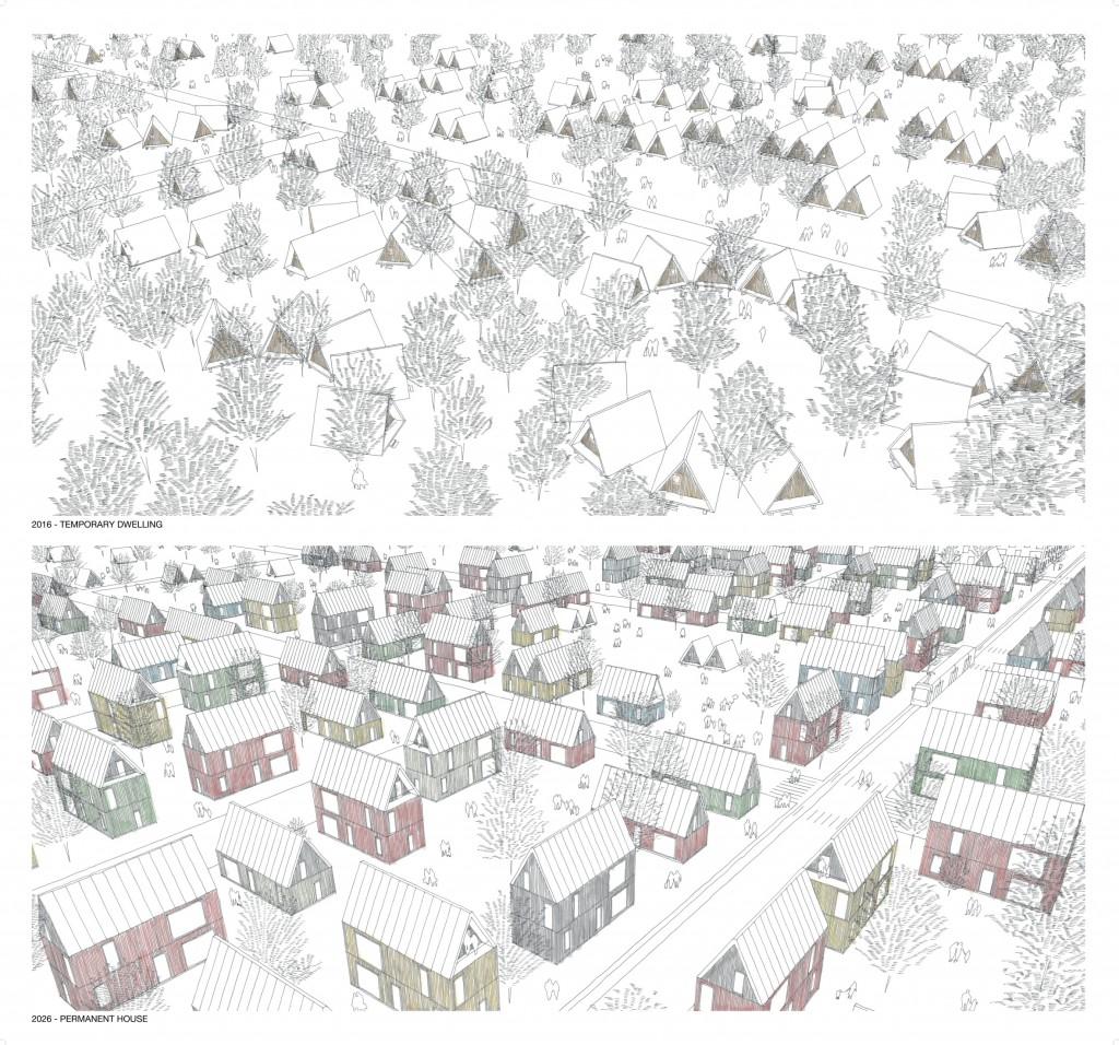 Start with a Roof. Satoshi Ohtaki. Finnish Pavilion 2016. From Border to Home. 15th International Architecture Exhibition – La Biennale di Venezia. ©Satoshi Ohtaki.