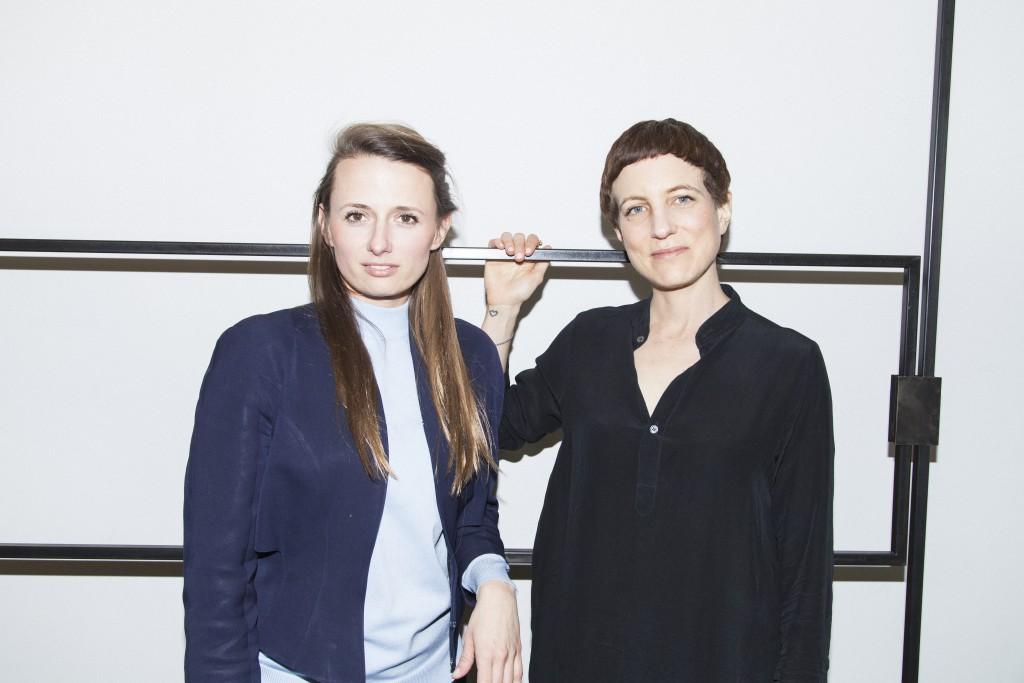 Depot Basel curators Matylda Krzykowski & Rebekka Kiesewetter, Photo: Diana Pfammatter