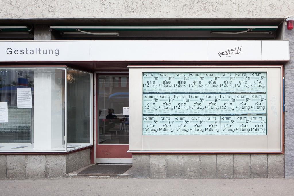 Forum for an Attitude - Window display, Photo: Tomas Soucek