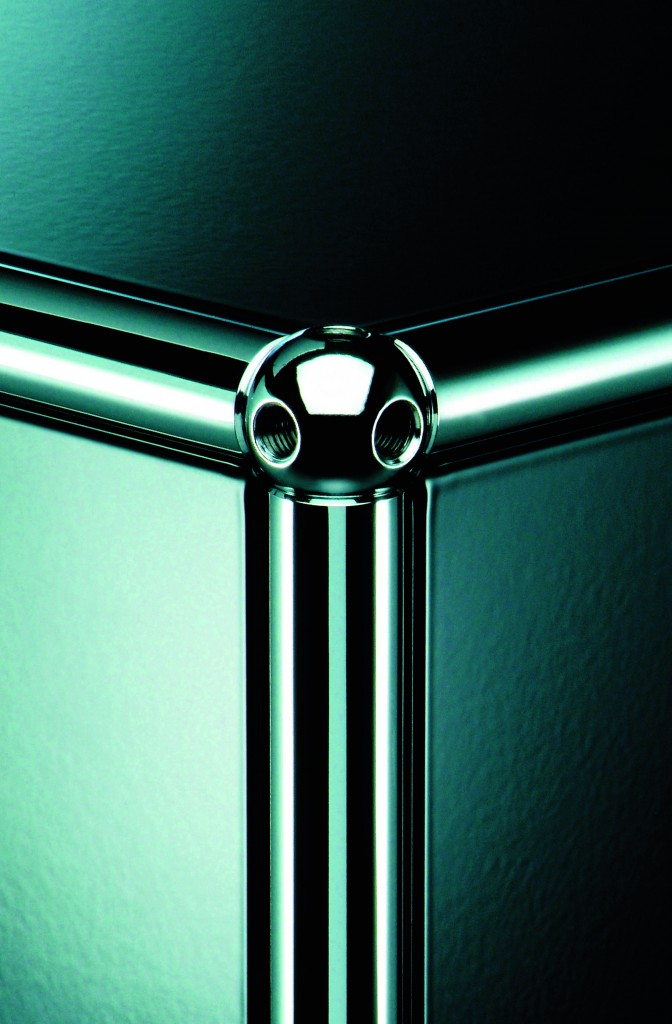 The chromium steel tubes connected using the iconic ball joints photographed by Balthasar Burkhard