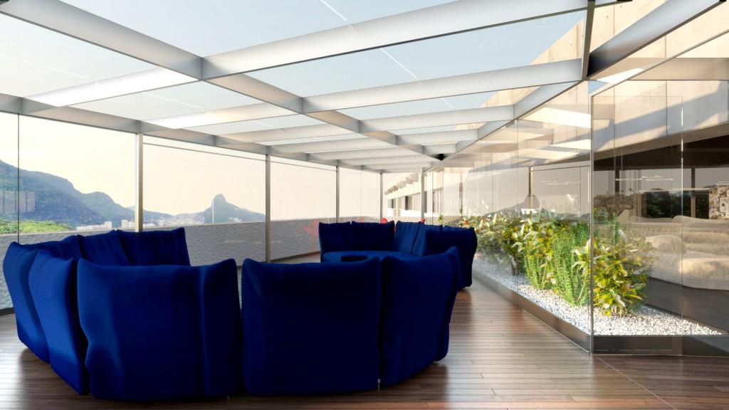 CONI Casa Italia lounge terrazza triangolare A